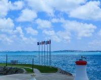 Cinque bandiere sulle Bermude Immagine Stock