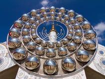 Cinque bianco Buddha Fotografia Stock