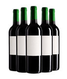 Cinque bottiglie Fotografia Stock Libera da Diritti