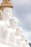 Cinque Buddha Fotografia Stock Libera da Diritti