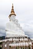 Cinque Buddha insieme Fotografia Stock