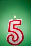 Cinque candele Immagini Stock