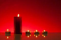 Cinque candele burning Fotografia Stock