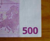 Cinque centinaia 500 euro banconote Fotografia Stock Libera da Diritti