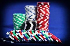 Cinque chip di mazza colorati Fotografia Stock Libera da Diritti