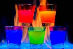 Cinque cocktail Fotografie Stock Libere da Diritti