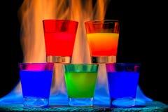Cinque cocktail Immagine Stock