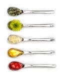 Cinque cucchiai Fotografia Stock Libera da Diritti