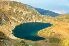 Cinque dei sette laghi mountain di Rila Fotografia Stock