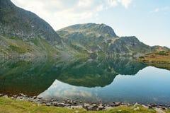 Cinque dei sette laghi mountain di Rila Immagine Stock