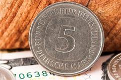 5 cinque Deutsche Mark Bundesrepubik Deutschland Fotografia Stock Libera da Diritti