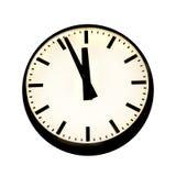 Cinque - dodici sull'orologio fotografia stock libera da diritti
