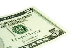 Cinque dollari Fotografie Stock Libere da Diritti