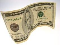 Cinque dollari fotografia stock libera da diritti