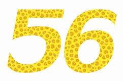 Cinque e sei segni del fiore di Sun sugli ambiti di provenienza isolati Fotografia Stock Libera da Diritti