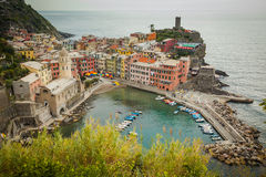 cinque Italy Liguria terre vernazza Fotografia Royalty Free