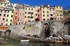 cinque Italy riomaggiore terre fotografia stock