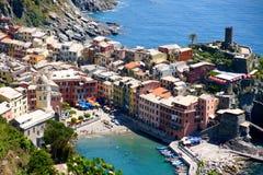 cinque Italy terre vernazza Zdjęcia Royalty Free