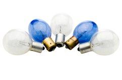 Cinque lampadine Fotografia Stock