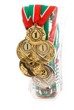 Cinque medaglie Immagine Stock Libera da Diritti