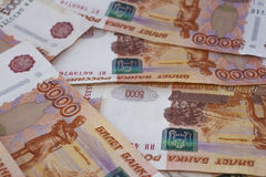 Cinque mila rubli russe Fotografia Stock