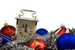 Cinque minuti al nuovo anno Fotografie Stock Libere da Diritti
