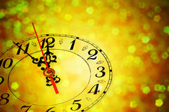Cinque minuti al nuovo anno Fotografia Stock Libera da Diritti