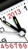 Cinque minuti a l'anno prossimo Immagini Stock