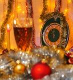 Cinque minuti prima di nuovo anno Fotografie Stock