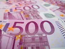 cinque note dell'euro di centinaia Fotografie Stock Libere da Diritti