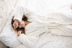 Cinque nuovi minuti a letto Immagine Stock