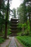 Cinque pagoda leggendaria, supporto Haguro Fotografia Stock