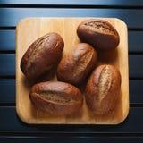 Cinque panini della segale Fotografie Stock Libere da Diritti