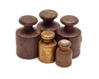 Cinque pesi, un bronzo Fotografie Stock