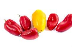 Cinque piccoli peperoni dolci dopo classe Immagine Stock Libera da Diritti