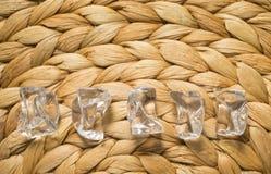 Cinque pietre cristalline Fotografie Stock Libere da Diritti