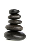 Cinque pietre nere equilibrate Immagine Stock Libera da Diritti