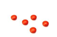 Cinque pillole del Ibuprofen immagini stock libere da diritti