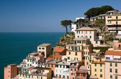 cinque riomaggiore terre στην όψη στοκ φωτογραφία με δικαίωμα ελεύθερης χρήσης