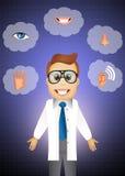 Cinque sensi illustrazione di stock