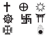 Cinque simbolo differente dell'Africano e dell'nativo americano Immagini Stock Libere da Diritti