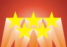Cinque stelle Immagini Stock Libere da Diritti