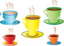 Cinque tazze Immagine Stock