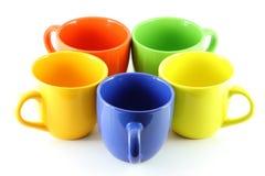 Cinque tazze Fotografia Stock