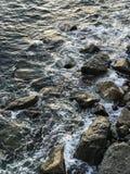 Cinque Terra, côté de mer d'Italy_ photo stock