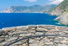 Cinque Terra. The coastline of the national park. Stock Photo