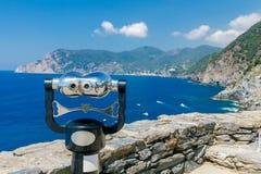 Cinque Terra. The coastline of the national park. Royalty Free Stock Photos