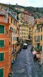 Cinque Terra Italy Old Town Coastal Immagini Stock Libere da Diritti