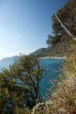 Cinque Terre海岸 库存照片
