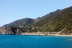 Cinque Terre的海岸线 图库摄影